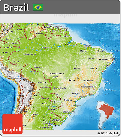 Free Physical D Map Of Brazil - Brazil map physical