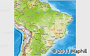 Physical 3D Map of Brazil