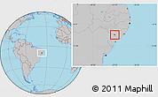 Gray Location Map of Belo Monte