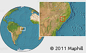 Satellite Location Map of Belo Monte