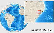 Shaded Relief Location Map of Belo Monte