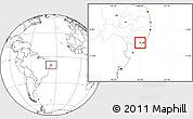 Blank Location Map of Boca de Mata