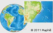 Physical Location Map of Boca de Mata