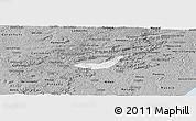 Gray Panoramic Map of Branquinha