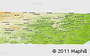Physical Panoramic Map of Branquinha