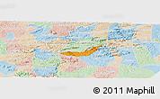 Political Panoramic Map of Branquinha, lighten