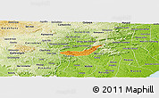 Political Panoramic Map of Branquinha, physical outside
