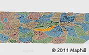 Political Panoramic Map of Branquinha, semi-desaturated