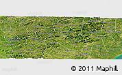 Satellite Panoramic Map of Branquinha