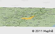 Savanna Style Panoramic Map of Branquinha