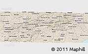 Shaded Relief Panoramic Map of Branquinha