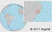 Gray Location Map of Cacimbinhas