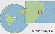 Savanna Style Location Map of Cacimbinhas