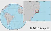 Gray Location Map of Campo Alegre