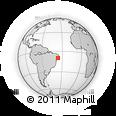 Outline Map of Campo Alegre