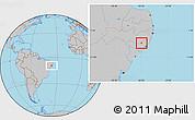 Gray Location Map of Cha Preta