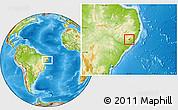 Physical Location Map of Cha Preta