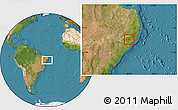 Satellite Location Map of Cha Preta