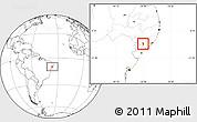 Blank Location Map of Girau do Poncian