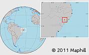 Gray Location Map of Girau do Poncian