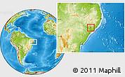 Physical Location Map of Girau do Poncian