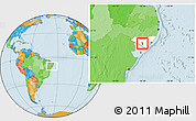 Political Location Map of Girau do Poncian, highlighted parent region