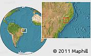 Satellite Location Map of Girau do Poncian
