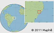 Savanna Style Location Map of Girau do Poncian