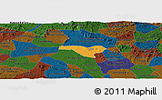 Political Panoramic Map of Igaci, darken