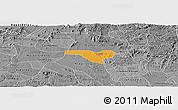 Political Panoramic Map of Igaci, desaturated