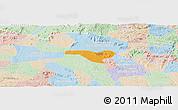 Political Panoramic Map of Igaci, lighten
