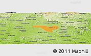 Political Panoramic Map of Igaci, physical outside