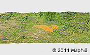 Political Panoramic Map of Igaci, satellite outside