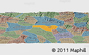 Political Panoramic Map of Igaci, semi-desaturated