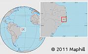 Gray Location Map of Jundia