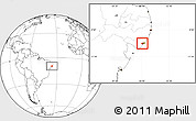Blank Location Map of Marechal Deodoro