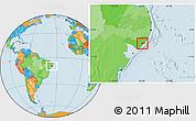 Political Location Map of Marechal Deodoro