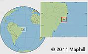 Savanna Style Location Map of Marechal Deodoro