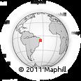 Outline Map of Marechal Deodoro