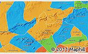 Political 3D Map of Mata Grande