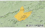 Savanna Style 3D Map of Mata Grande