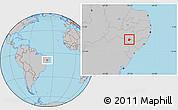 Gray Location Map of Mata Grande