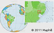 Political Location Map of Mata Grande