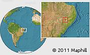 Satellite Location Map of Mata Grande