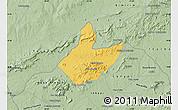 Savanna Style Map of Mata Grande