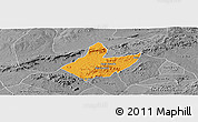 Political Panoramic Map of Mata Grande, desaturated