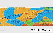 Political Panoramic Map of Mata Grande