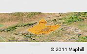 Political Panoramic Map of Mata Grande, satellite outside
