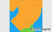 Political Simple Map of Mata Grande