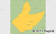Savanna Style Simple Map of Mata Grande